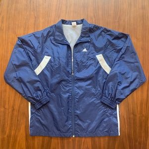 Adidas Men's Medium Navy Full Zip Windbreaker